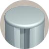 circular aluminum extrusion with plastic end cap