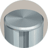 circular aluminum extrusion with threaded end cap