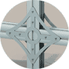 cable mount gusset plate