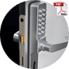 combination door lock handle