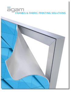 Frames and fabric printing brochure cover